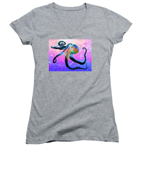 Caribbean Tango Abstract Women's V-Neck