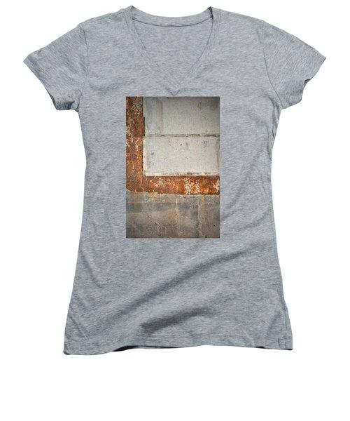 Carlton 14 - Abstract Concrete Wall Women's V-Neck