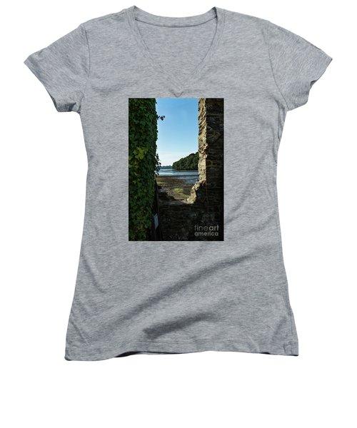 Photographs Of Cornwall Carnon Mine Window Women's V-Neck