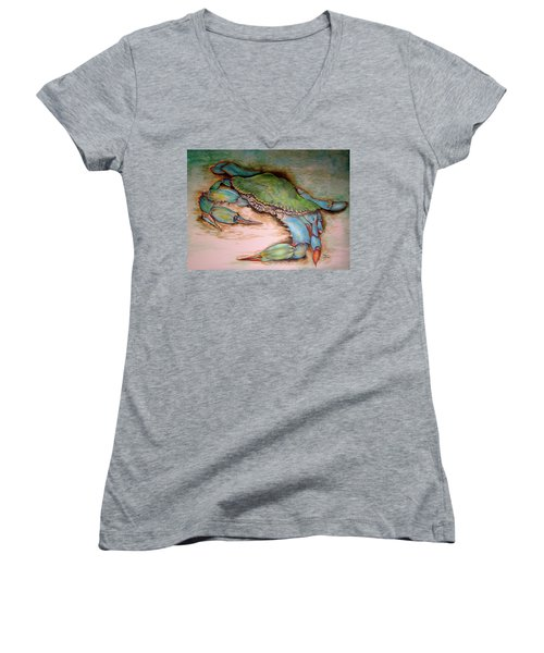 Carolina Blue Crab Women's V-Neck