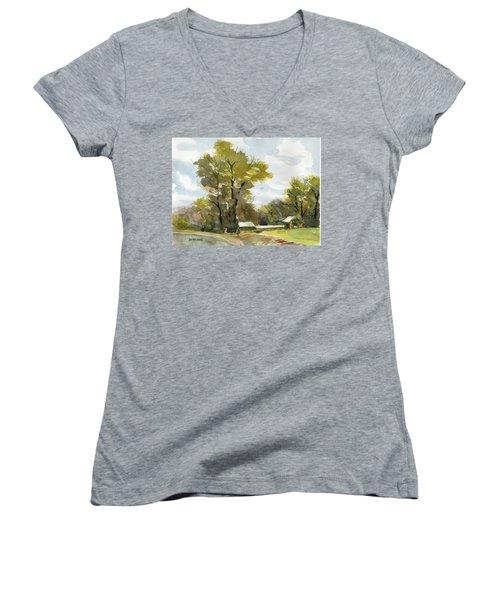 Carolina Farm Field Women's V-Neck T-Shirt