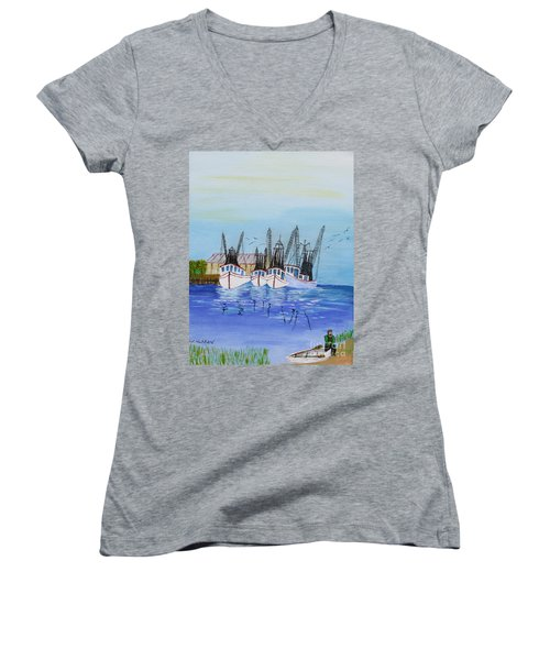 Carolina Shrimpers Women's V-Neck (Athletic Fit)