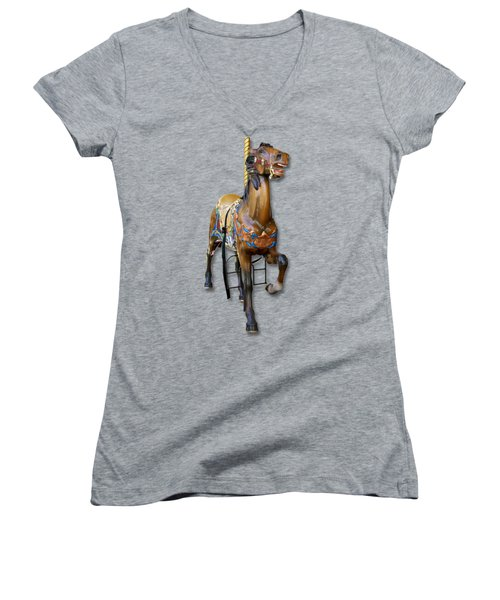 Carousel Horse Women's V-Neck (Athletic Fit)