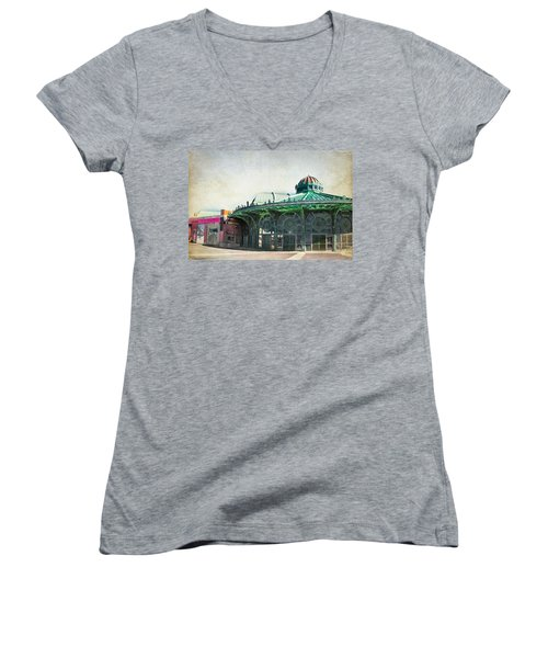 Carousel House At Asbury Park Women's V-Neck T-Shirt