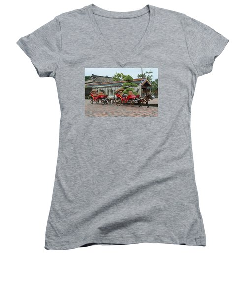 Carriage Rides Women's V-Neck (Athletic Fit)