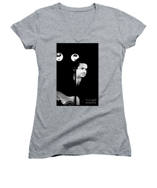 Women's V-Neck T-Shirt (Junior Cut) featuring the photograph Cash by Paul W Faust - Impressions of Light