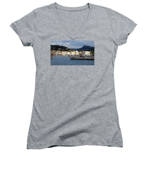 Cassis Town And Harbor Women's V-Neck