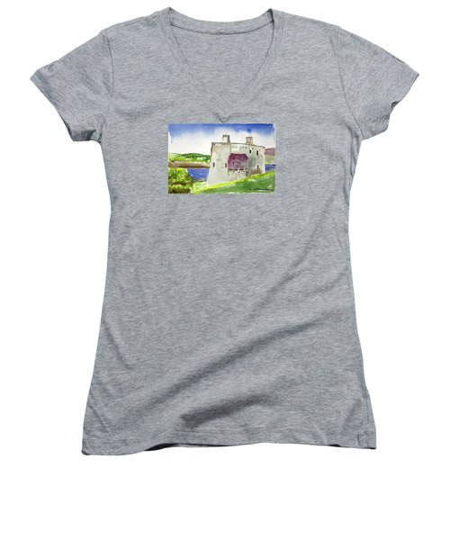 Castle From The Hill Women's V-Neck (Athletic Fit)