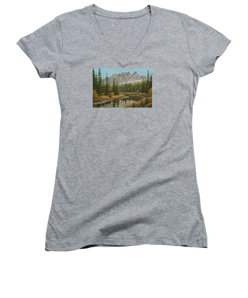 Castle In The Sky Women's V-Neck (Athletic Fit)