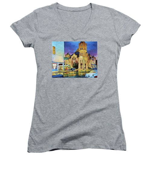 Castle Of Imagination Women's V-Neck (Athletic Fit)