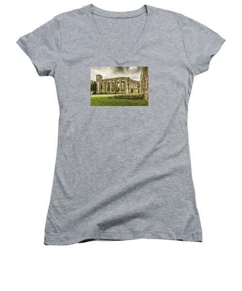 Castle Ruins Women's V-Neck