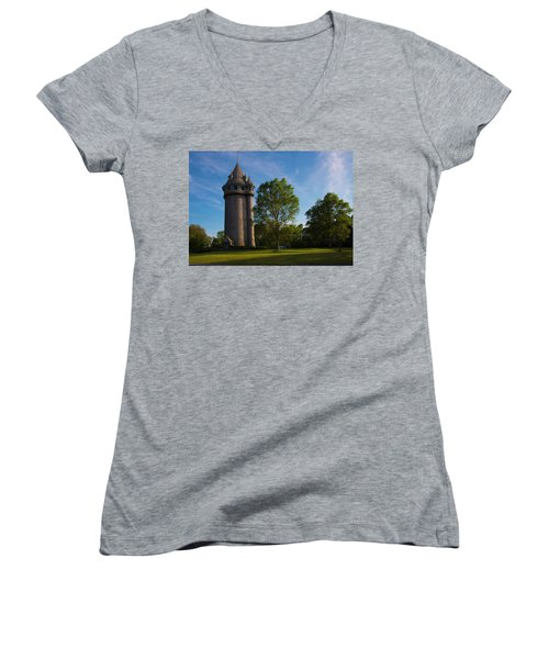 Castle Turret On The Green Women's V-Neck (Athletic Fit)