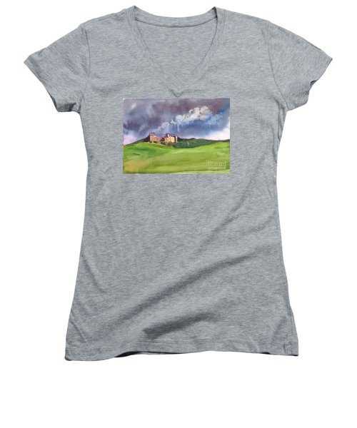 Castle Under Clouds Women's V-Neck