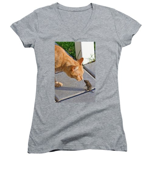 Cat And Mouse Women's V-Neck (Athletic Fit)