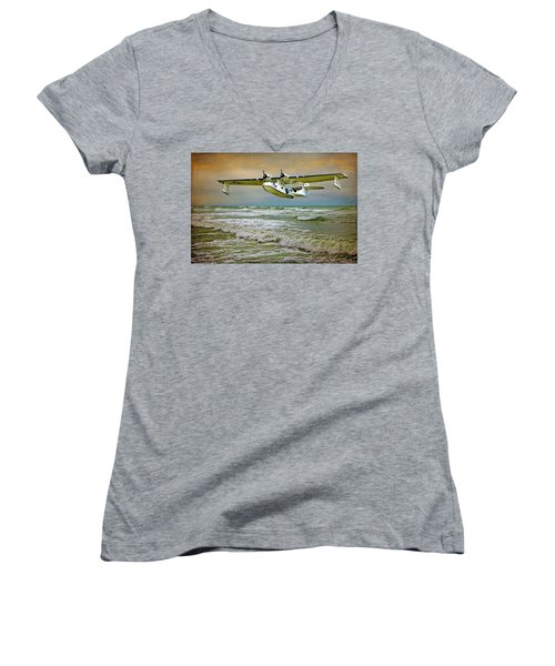Catalina Flying Boat Women's V-Neck (Athletic Fit)