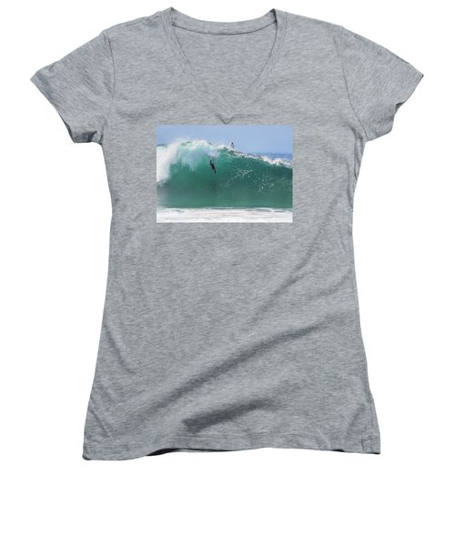 Catch Me Women's V-Neck T-Shirt (Junior Cut) by Joe Schofield