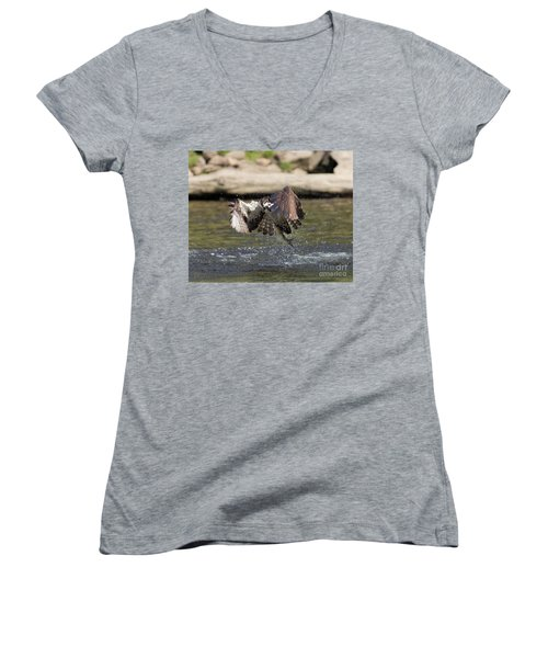Catch Of The Day Women's V-Neck T-Shirt (Junior Cut) by Ursula Lawrence