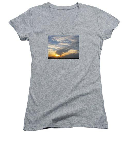 Catch The Morning Sun Women's V-Neck T-Shirt