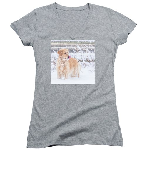 Catching Snowflakes Women's V-Neck