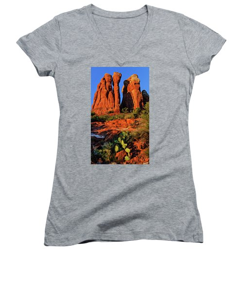Cathedral 06-074 Women's V-Neck T-Shirt