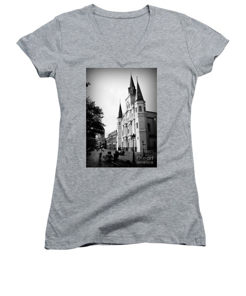 Cathedral Morning 2 Women's V-Neck T-Shirt
