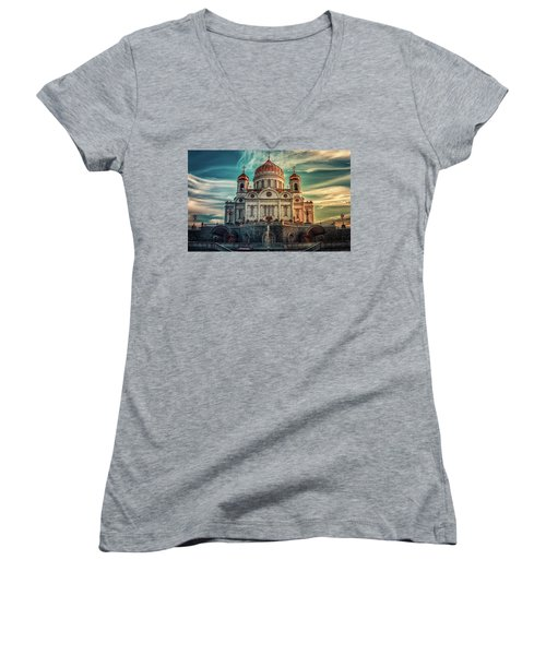 Cathedral Of Christ The Saviour Women's V-Neck