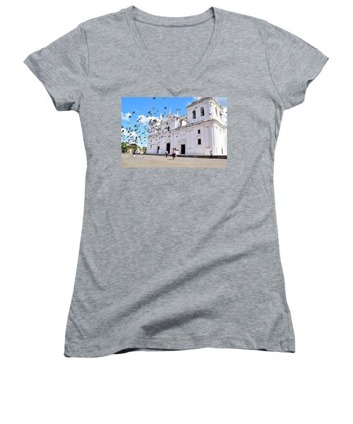 Cathedral Of Leon Women's V-Neck