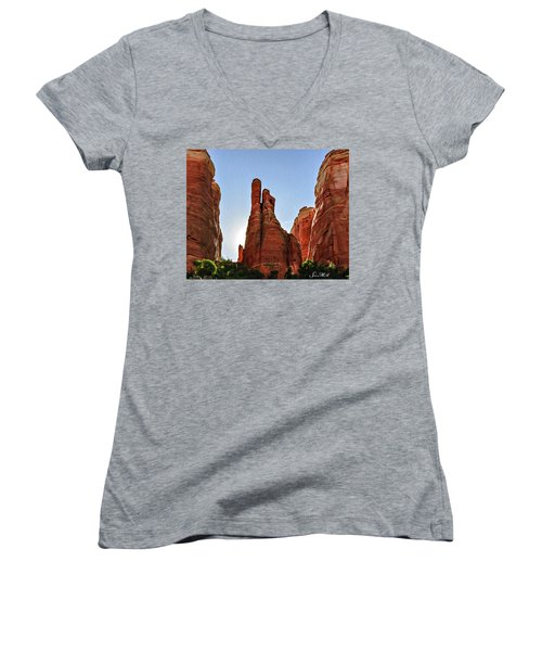 Cathedral Rock 05-155 Women's V-Neck (Athletic Fit)