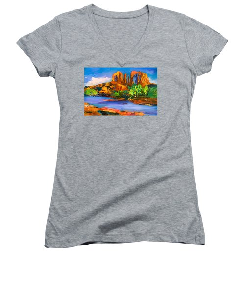 Cathedral Rock Afternoon Women's V-Neck (Athletic Fit)
