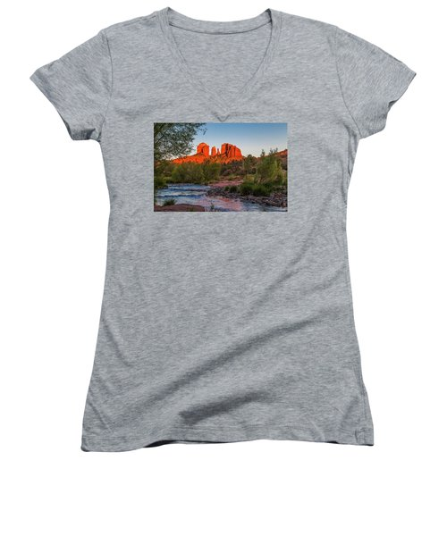 Cathedral Rock At Red Rock Crossing Women's V-Neck