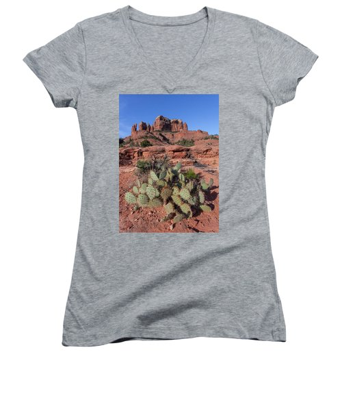 Cathedral Rock Cactus Grove Women's V-Neck