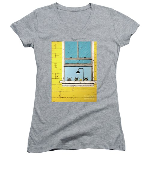 Cats Daydreaming Women's V-Neck (Athletic Fit)
