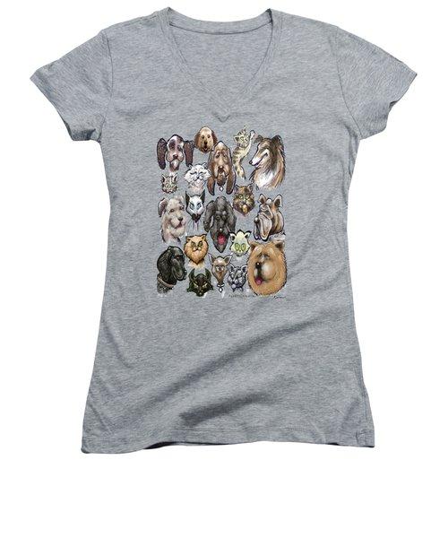 Cats N Dogs Women's V-Neck
