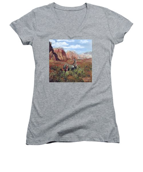 Caught In The Brush Women's V-Neck (Athletic Fit)