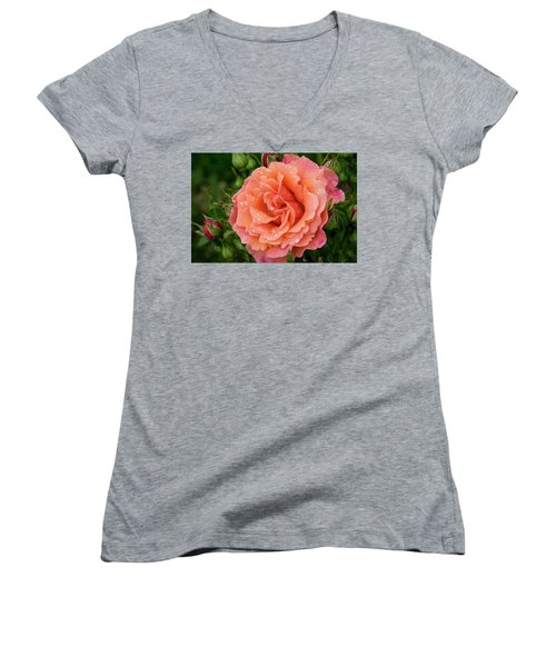 Caught In The Rain Women's V-Neck T-Shirt
