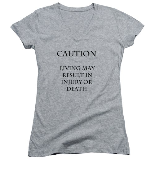 Caution Women's V-Neck