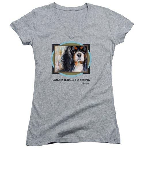Cavalier About Life  Women's V-Neck T-Shirt