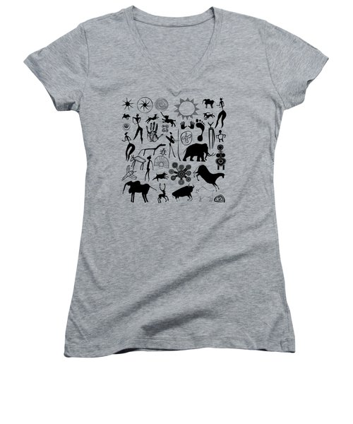 Cave Painting Women's V-Neck (Athletic Fit)