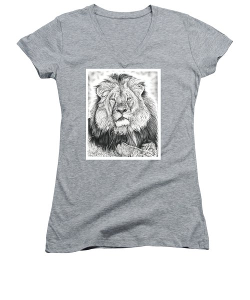 Cecil The Lion  Women's V-Neck