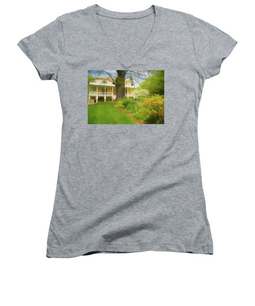 Cedar Grove In Spring Women's V-Neck