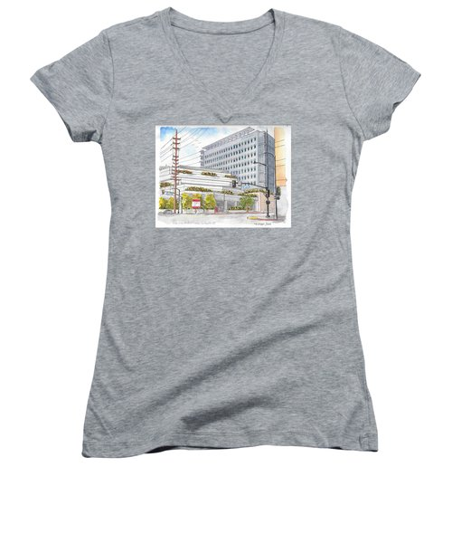 Cedars-sinai Medical Center, 3rd And San Vicente, West Hollywood, Ca Women's V-Neck