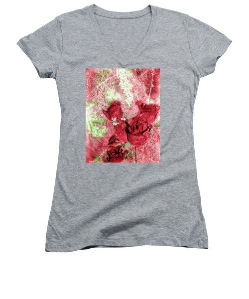 Celebrate Winter Women's V-Neck T-Shirt