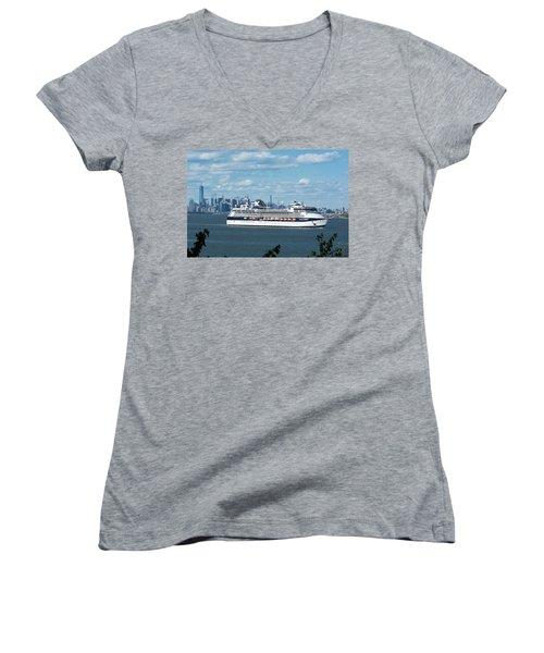 Celebrity Summit Women's V-Neck T-Shirt (Junior Cut) by Kenneth Cole