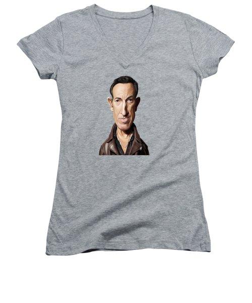 Celebrity Sunday - Bruce Springsteen Women's V-Neck T-Shirt