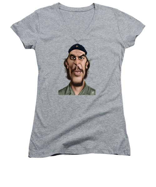 Celebrity Sunday - Che Guevara Women's V-Neck