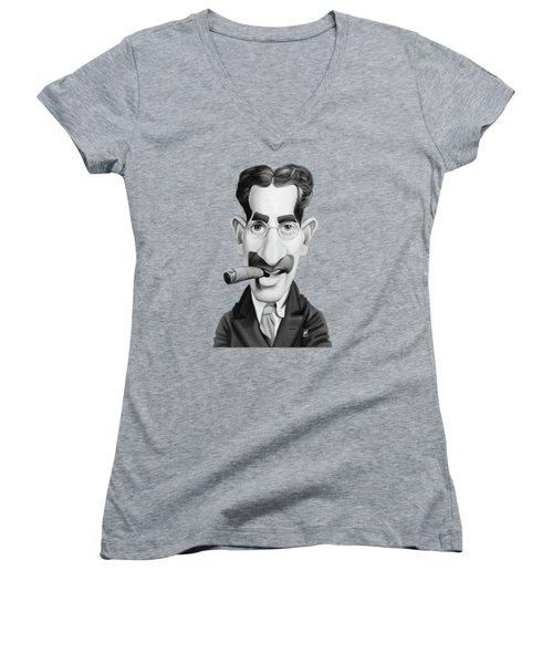 Celebrity Sunday - Groucho Marx Women's V-Neck