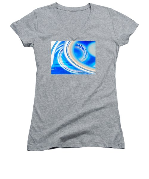 Women's V-Neck T-Shirt (Junior Cut) featuring the photograph Celestial Rings by Shawna Rowe