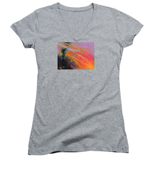 Fantasies In Space Series Painting. Celestial Symphony Women's V-Neck (Athletic Fit)
