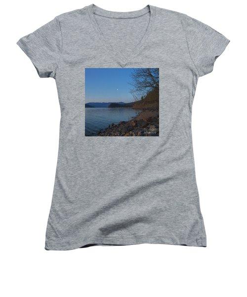 Women's V-Neck T-Shirt (Junior Cut) featuring the photograph Celista Sunrise 3 by Victor K