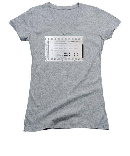 Women's V-Neck T-Shirt (Junior Cut) featuring the photograph Celluloid Film by Michal Boubin